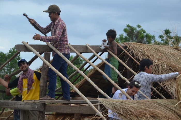 Operation Groundswell helps to build a roof